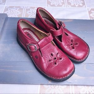 Born Mary Jane Red Leather Shoes Girls Size 13.5